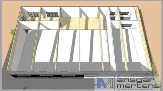 Hallenbau Aufteilung Innen