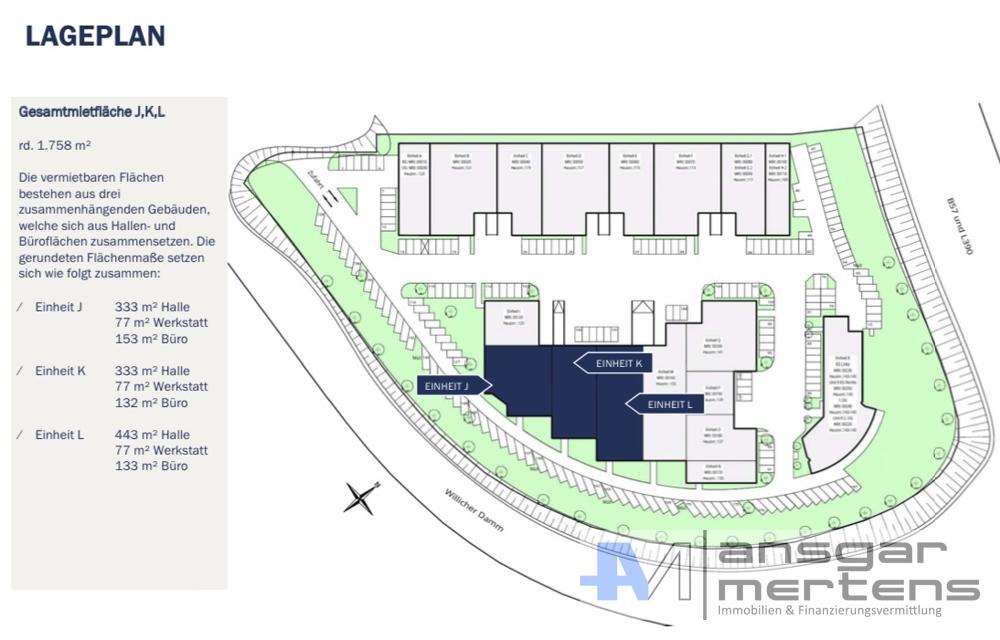 Lageplan Willicher Damm 109 - 145, 41066 Mönchengladbach