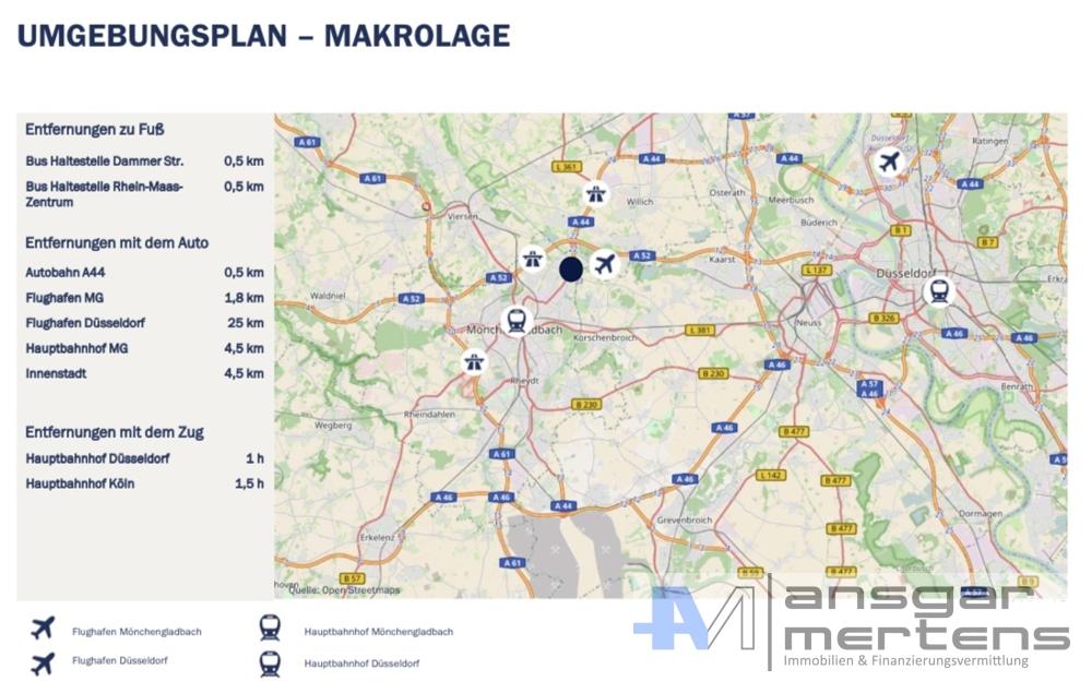 Makrolage Willicher Damm 109 - 145, 41066 Mönchengladbach
